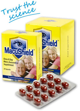 Age Related Macular Degeneration macushield supplements from Infocus Opticians Kilkenny, Naas and Portlaoise