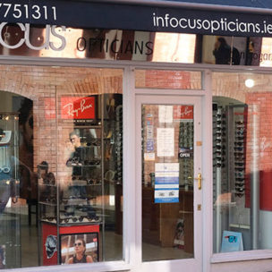 Infocus opticians store front Kilkenny